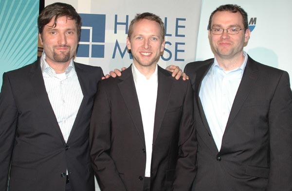 Stefan Langer, Jöran Beel und Marcel Genzmehr (v.l.n.r)